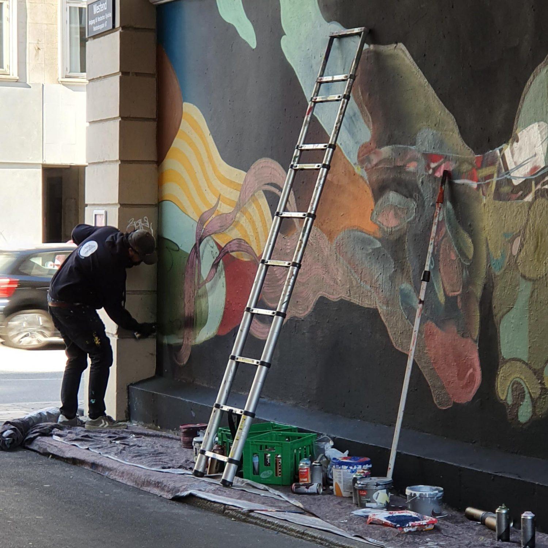 lints og malakki - Street-art i Westend Vesterbro Copenhagen